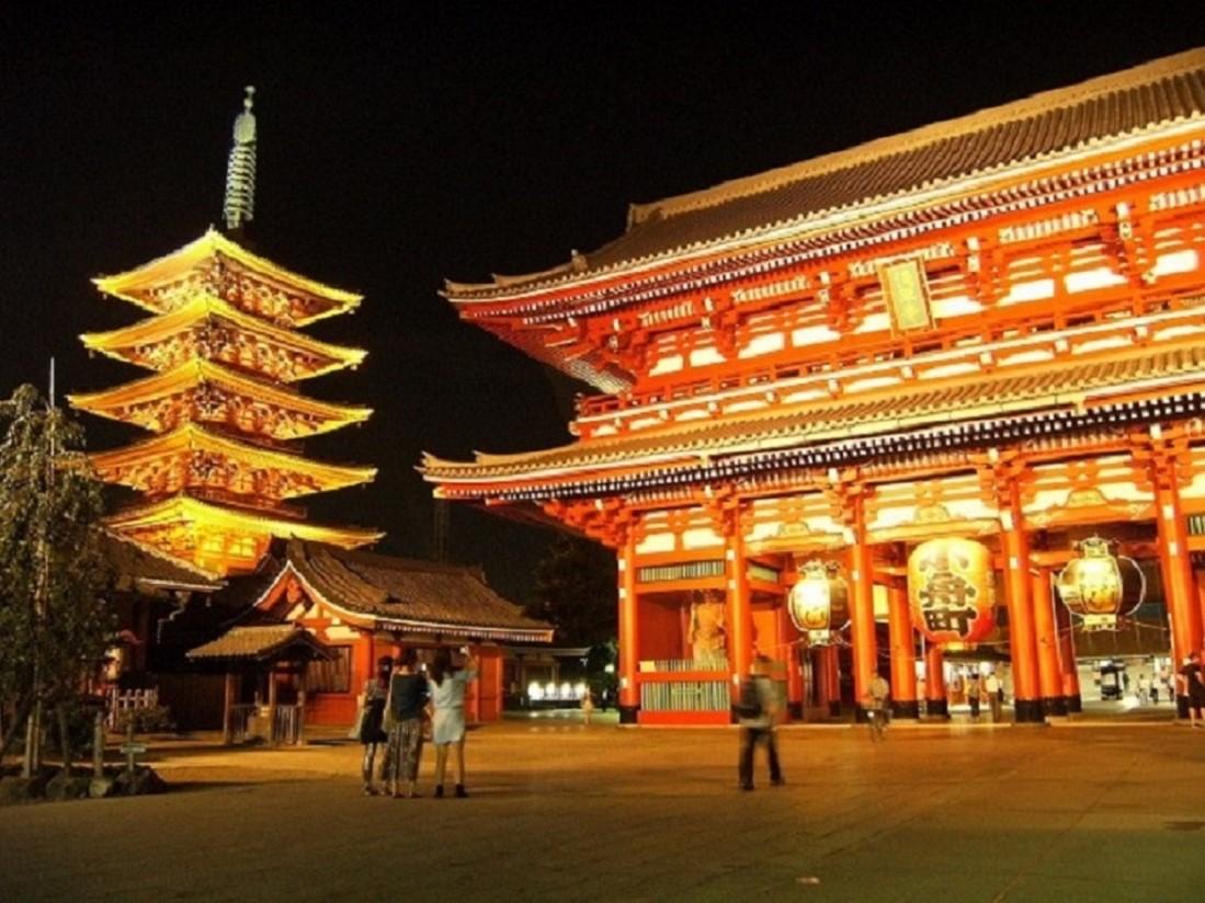 浅草寺夜景1100pixels